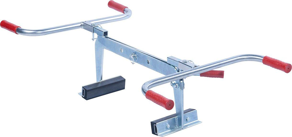 Chwytak do układania krawężników betonowych, do zastosowania przy zróżnicowanej długości elementów