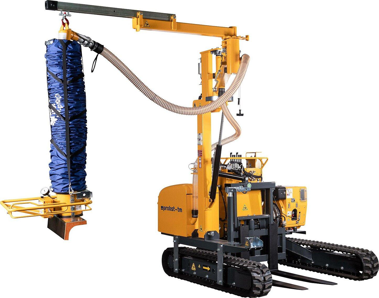 układarka gąsienicowa do transportu i układania krawężników